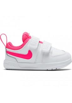 Nike Girl's Trainers Pico 5 (TDV) White/Fuchsia AR4162-102 | No laces | scorer.es