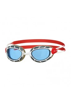 Zoggs Swim Goggles Predator White/Black/Red 336863