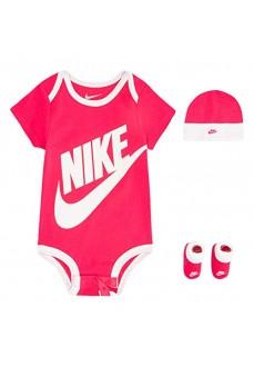 Set Infantil Nike Futura Logo Rosa/Gris MN0073-A4Y | scorer.es