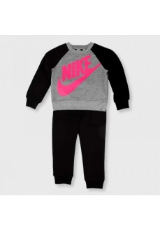 Chandal Infantil Nike Heathered Crew Gris/Negro 16F568-023