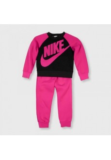 Chandal Infantil Nike Heathered Crew Gris/Fucsia 16F568-A4Y