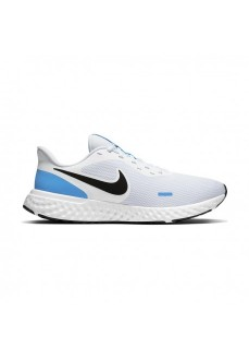 Zapatillas Hombre Nike Revolution 5 Blanco/Negro/Azul BQ3204-101 | scorer.es