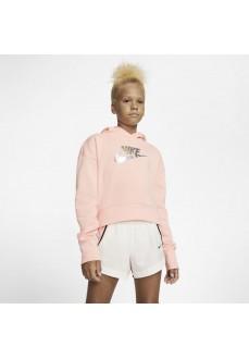 Sudadera Mujer Nike FF Crop Rosa CQ4225-697