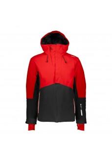 Campagnolo Men's Jacket Mid Jacket Fix Hood Red/Black 39W1527-U901