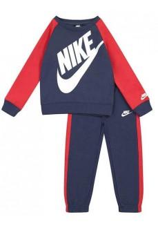 Chandal Infantil Nike Oversized Futura Crew Marino/Rojo 86F563-U90