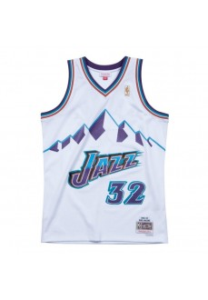 Camiseta Hombre Mitchell & Ness Uthan Jazz Karl Malone Blanco SMJYAC18056-UJAWHITE96KMA | scorer.es