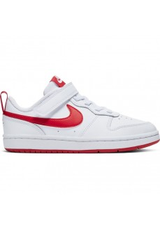 Zapatilla Niño/a Nike Court Borough Blanco/Rojo BQ5451-103 | scorer.es