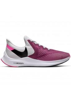 Zapatillas Mujer Nike Air Zoom Winflo 6 Rosa/Blanco/Negro AQ8228-602
