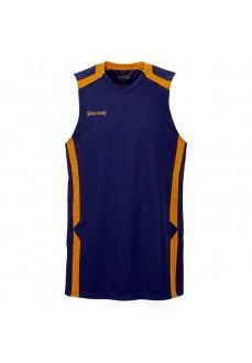 Camiseta Hombre Baloncesto Spalding Offense Tan Marino/Naranja 300213005
