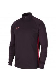 Nike Men's Sweatshirt Dri-FIT Academy Maroon AJ9708-659