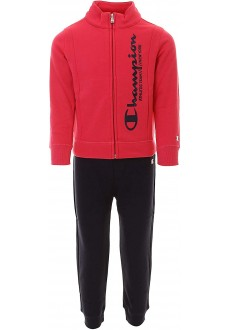 Champion Kids' Front Zip Tracksuit Pink/Navy Blue 403705 PS061