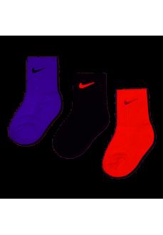 Nike Socks Basic Pack Crew Several Colors UN0027-AB3 | Socks for Kids | scorer.es
