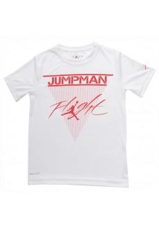 Camiseta Hombre Nike JDB Mj Brand SS Crew Blanco/Rojo 956863-001 | scorer.es