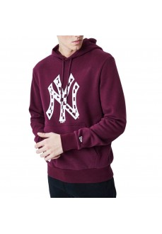 New Era Men's Sweatshirt Infill Logo Hoody Maroon 12195442