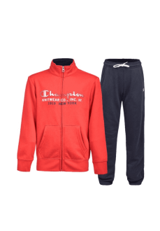 Champion Kids' Front Zip Tracksuit Red/Navy Blue 305097-RS018-PRE | Tracksuits for Kids | scorer.es