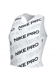 Camiseta Mujer Nike Dry Tank Db Pro Crop Blanco/Negro CK2421-100