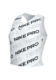 Nike Women's T-Shirt Dry Tank Db Pro Crop White/Black CK2421-100