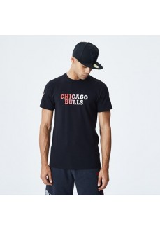 Camiseta Hombre New Era Chicago Bulls Gradient Negra 12195386 | scorer.es