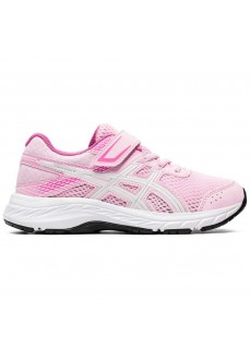 Asics Girl's Trainers Contend 6 PS Pink White 1014A087-700