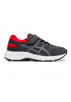 Asics Kids' Trainers Contend 6 PS Gray/Red 1014A087-021