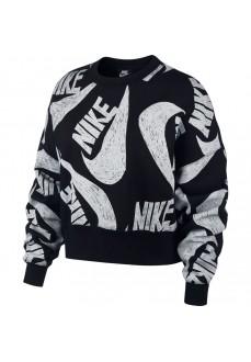 Sudadera Mujer Nike Sportswear Negro/Blanco CJ2052-010 | scorer.es
