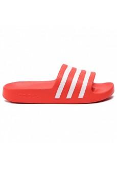 Chanclas Hombre Adidas Adilette Aqua Rojo/Blanco F35540