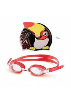 Head Kids' Swim Cap and Goggles Meteor Character 451020 RD BK