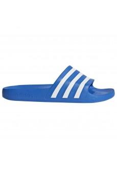Adidas Men's Flip Flops Adilette Aqua Blue/White F35541 | Men's Sandals | scorer.es