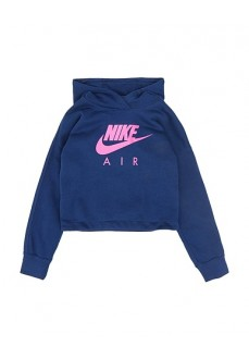 Nike Girl's Sweatshirt Air Blue/Pink CJ7413-492