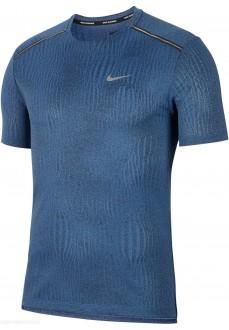 Camiseta Hombre Nike Dri Miler SS Jacquard Azul CJ5342-070