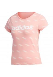 Camiseta Mujer Adidas W Fav T Rosa/Blanco FS9792