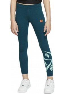 Nike Girl's Leggings Sportswear Green CJ7423-349