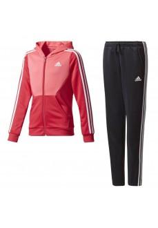 Chándal Adidas con capucha Coral/Negro