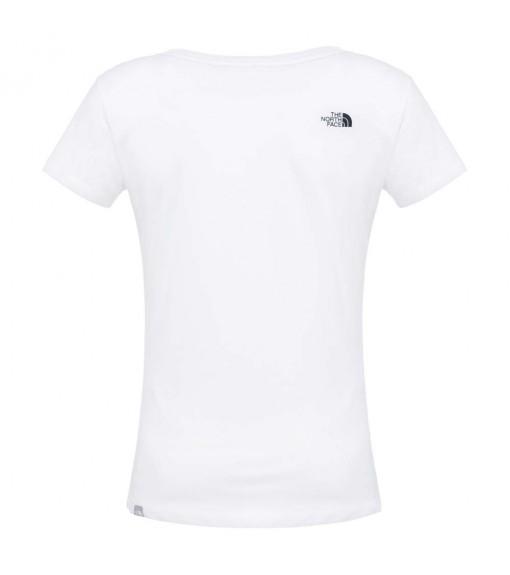 Camiseta Mujer The North Face W Easy Tee Blanco/Negro NF00C256LG51   scorer.es