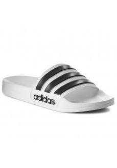 Adidas Men's Flip Flops Adilette Cloudfoam White/Black AQ1702 | Men's Sandals | scorer.es
