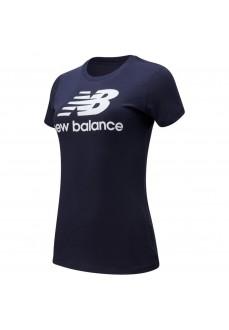 Camiseta Mujer New Balance Essentials Marino WT91546 ECL