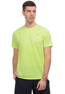 New Balance Men's T-Shirt Accelerate SS Yellow MT93180 LS2