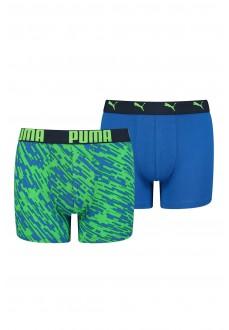 Boxer Niño Puma Print Azul/Verde 505003001-011