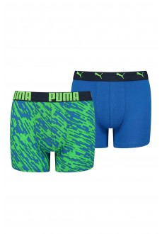 Boxer Kids' Puma Print Blue/Green 505003001-011