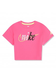 Nike Girl's T-Shirt Knit Top Fuchsia 36G217-A96