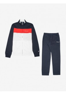 Champion Men's Front Zip Tracksuit Navy Blue/White 214408-BS517-NNY | Men's Tracksuits | scorer.es