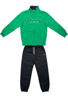 Champion Kids' Front Zip Tracksuit Green/Navy Blue 305097 GS018