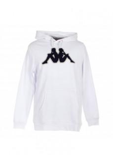 Sudadera Hombre Kappa Ariti Logo Hoodie Blanco 3032BY0_910