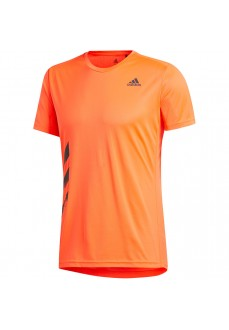 Adidas Men's T-Shirt Run It PB 3 Stripes Orange FR8378