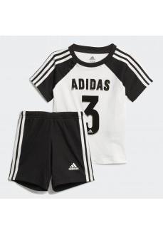 Conjunto Niño/a Adidas Summer Sport Negro/Blanco FM6382
