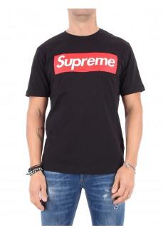 Camiseta Supreme Hombre Sleeve Print Negra 100007-TPR-19-000-30003