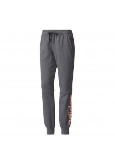 Pantalón largo Adidas para mujer Gris/rosa