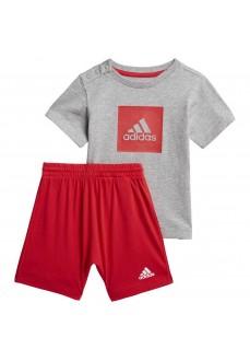 Conjunto Infantil Adidas I Logo Rojo/Gris FM6378