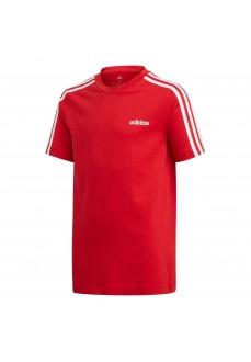 Camiseta Niño/a Adidas Essentials 3 bandas Rojo/Blanco FM7033 | scorer.es