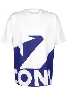Camiseta Hombre Converse Star Chevron Icon Remix Blanco/Azul 10018381-A04